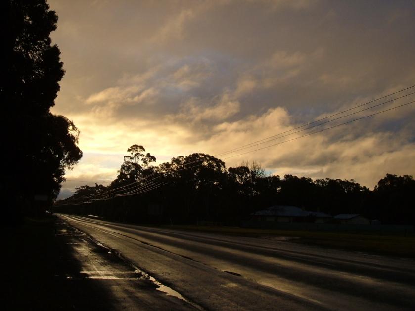 Just before 5pm, Central Victoria, Australia