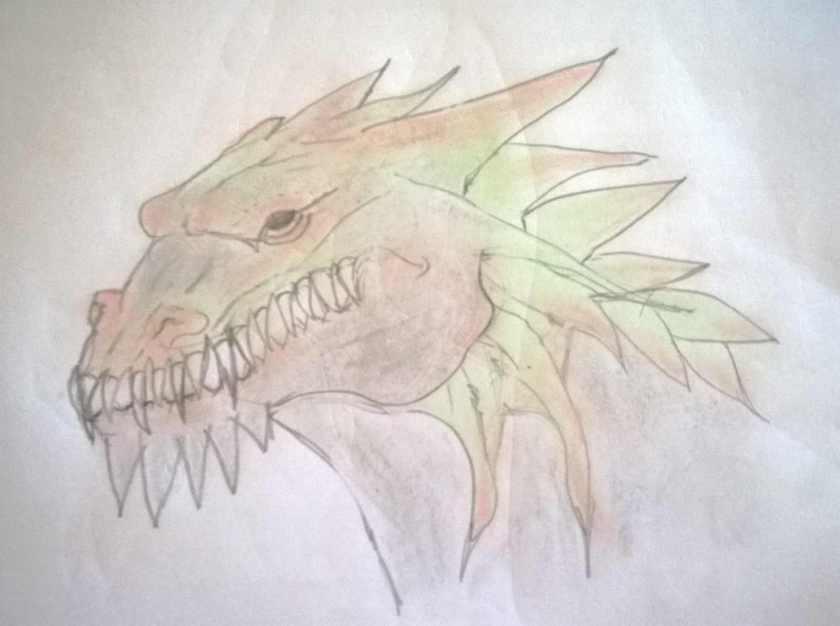 chalked dragon head