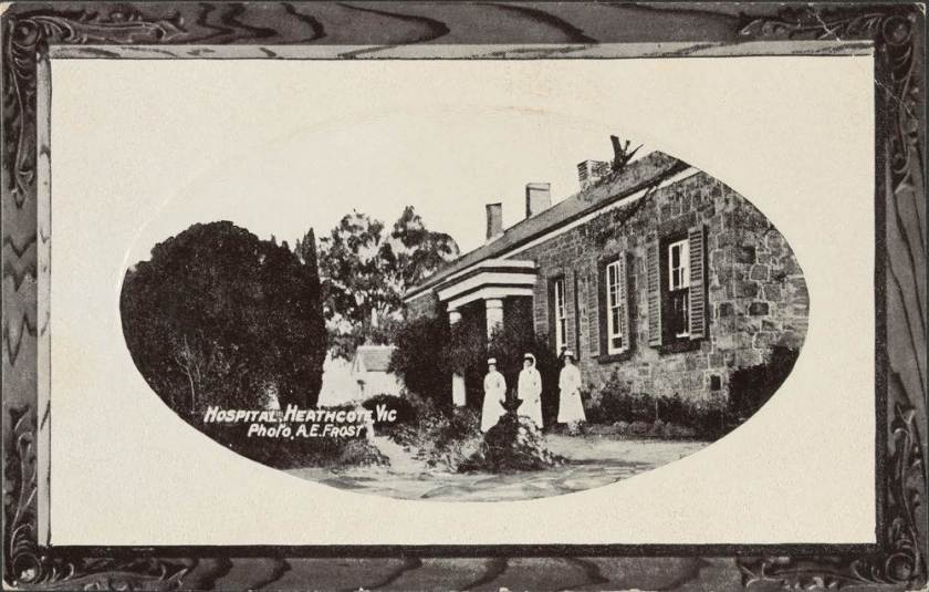 postcard, c 1916, Heathcote Hospital, Victoria